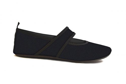 Futsole 2239 Travel Shoes Black Small Fits Shoe Size 5.5-6.5