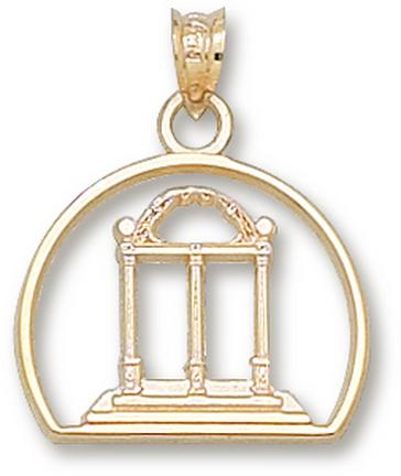 "Georgia Bulldogs ""Arch"" Pendant - 10KT Gold Jewelry"