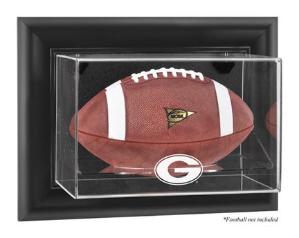 Georgia Bulldogs Black Framed Wall Mountable Logo Football Display Case