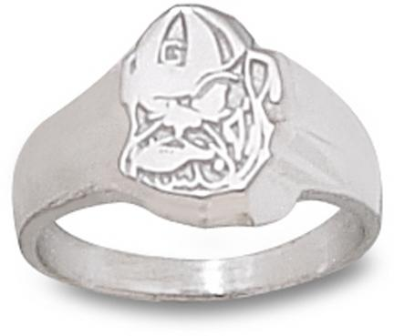 "Georgia Bulldogs ""Georgia Bulldog Face"" Ladies' Ring Size 6 - Sterling Silver Jewelry"