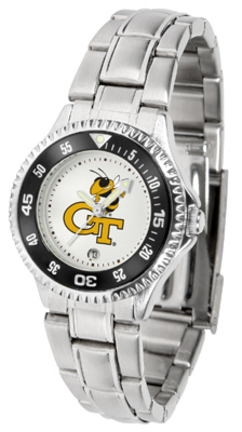 Georgia Tech Yellow Jackets Competitor Ladies Watch with Steel Band
