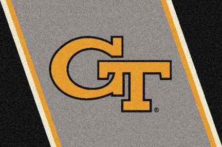 "Georgia Tech Yellow Jackets ""GT"" 3'10""x 5'4"" Team Spirit Area Rug"
