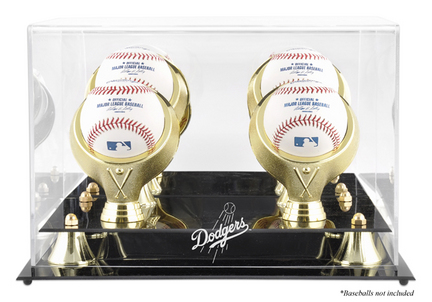 Golden Classic 4-Baseball Display Case with Los Angeles Dodgers Logo