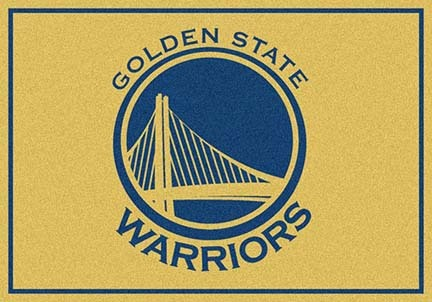 """Golden State Warriors 3' 10"""" x 5' 4"""" Team Spirit Area Rug"""