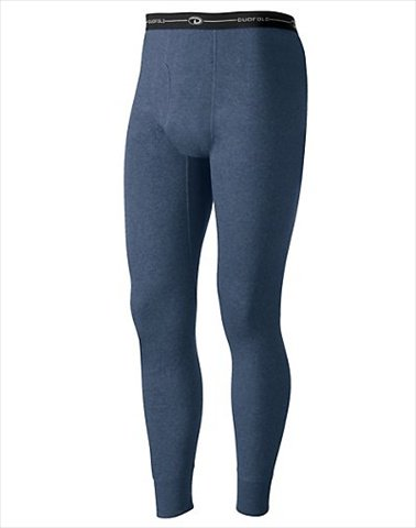 Hanes KMO3 Duofold Originals Mid-Weight Wool-Blend Mens Thermal Underwear Size Large Blue Jean