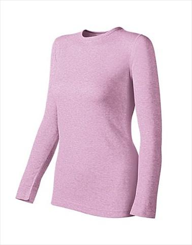 Hanes KWM1 Duofold Originals Mid-Weight Womens Thermal Shirt Size Medium Berry Pink Heather