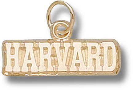 "Harvard Crimson ""Harvard"" 3/16"" Charm - 10KT Gold Jewelry"