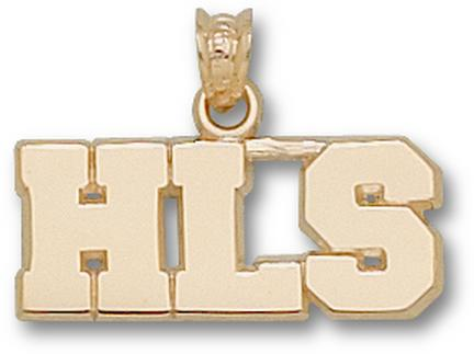 "Harvard Crimson Law School Block ""HLS"" Pendant - 10KT Gold Jewelry"