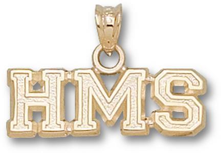 "Harvard Medical School ""HMS"" Pendant - 10KT Gold Jewelry"