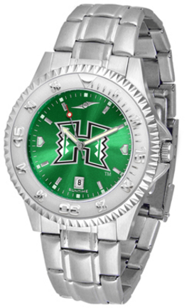 Hawaii Rainbow Warriors Competitor AnoChrome Men's Watch with Steel Band