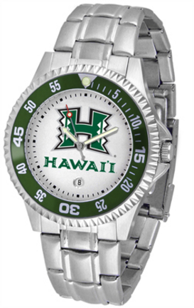 Hawaii Rainbow Warriors Competitor Men's Watch with Steel Band