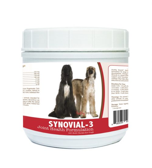 Healthy Breeds 840235100294 Afghan Hound Synovial-3 Joint Health Formulation - 120 Count