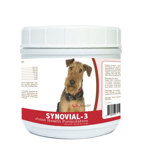 Healthy Breeds 840235100461 Airedale Terrier Synovial-3 Joint Health Formulation - 120 Count