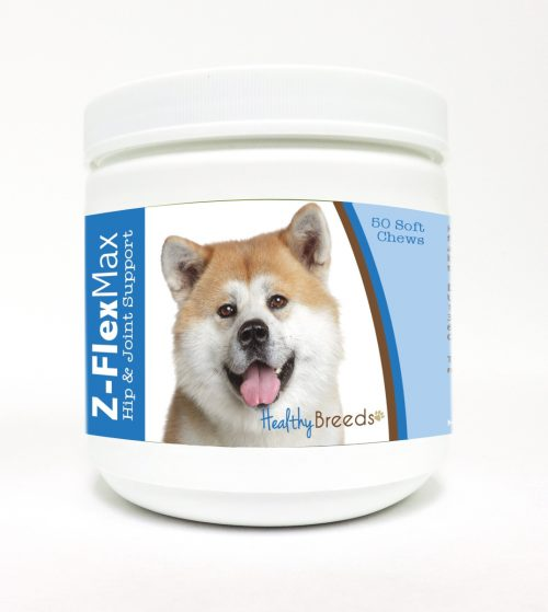 Healthy Breeds 840235100591 Akita Z-Flex Max Hip & Joint Soft Chews - 50 Count