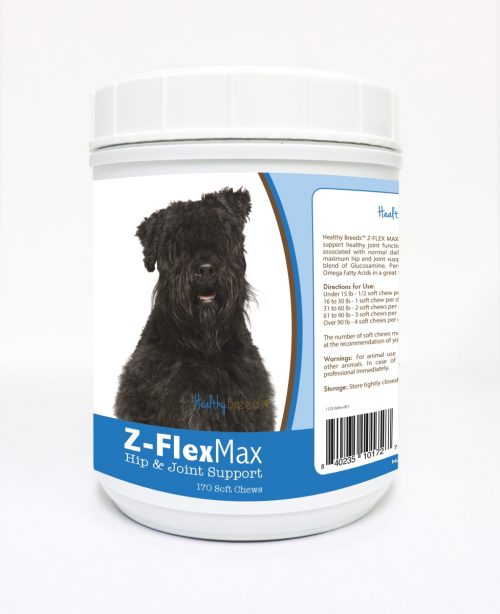 Healthy Breeds 840235101727 Bouvier des Flandres Z-Flex Max Hip & Joint Soft Chews - 170 Count