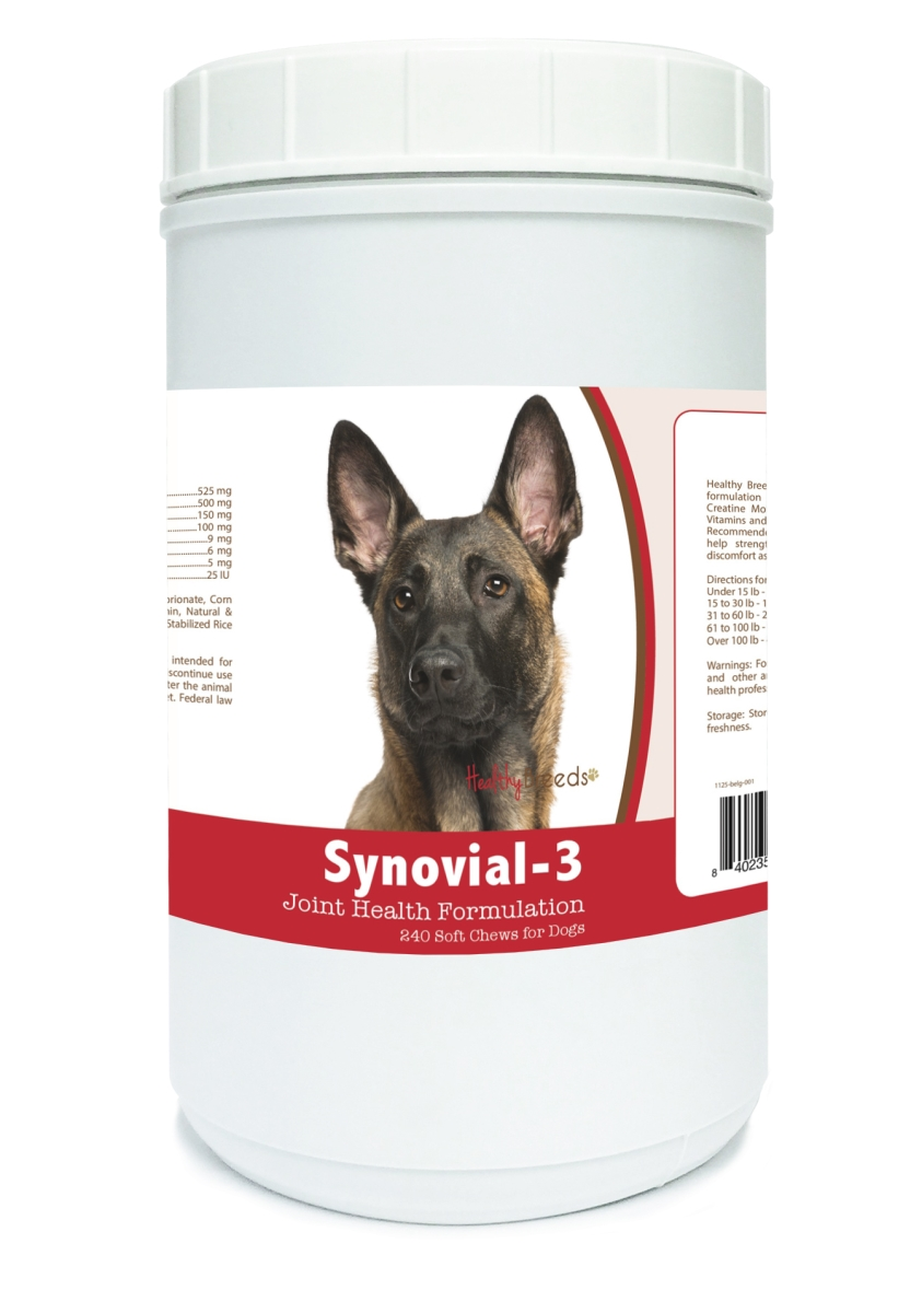 Healthy Breeds 840235102380 Belgian Malinois Synovial-3 Joint Health Formulation - 240 Count