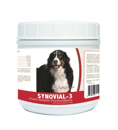 Healthy Breeds 840235102533 Bernese Mountain Dog Synovial-3 Joint Health Formulation - 120 Count