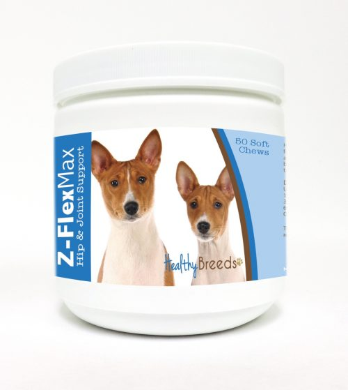 Healthy Breeds 840235103578 Basenji Z-Flex Max Hip & Joint Soft Chews - 50 Count