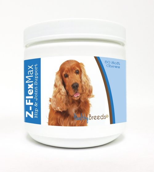Healthy Breeds 840235105640 Cocker Spaniel Z-Flex Max Hip & Joint Soft Chews 50 Count