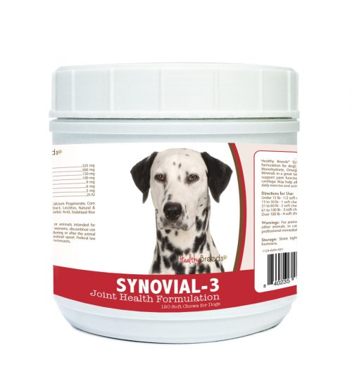Healthy Breeds 840235105978 Dalmatian Synovial-3 Joint Health Formulation - 120 Count