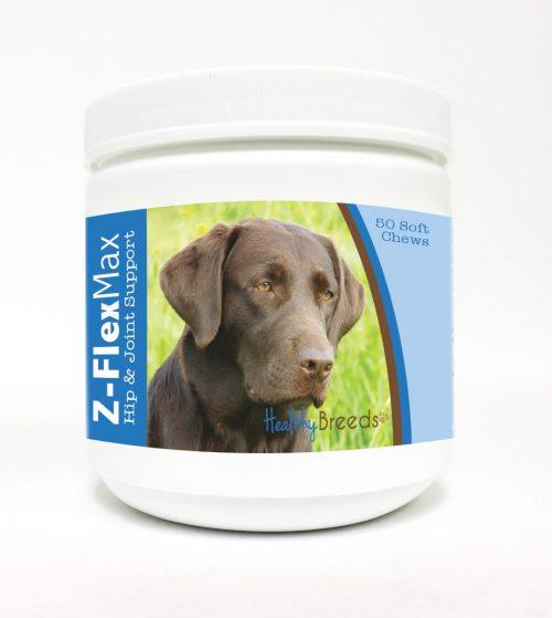 Healthy Breeds 840235109730 Labrador Retriever Z-Flex Max Hip & Joint Soft Chews - 50 Count