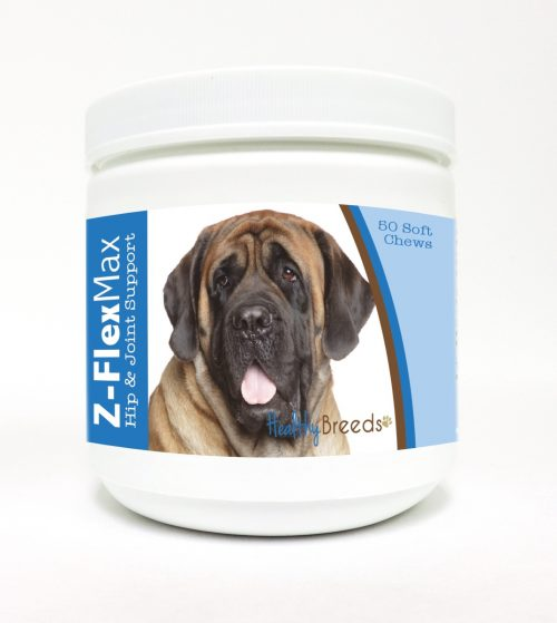 Healthy Breeds 840235110781 Mastiff Z-Flex Max Hip & Joint Soft Chews - 50 Count