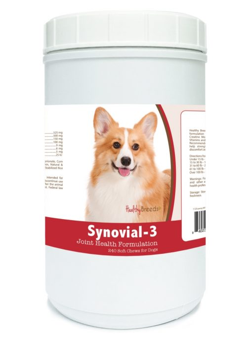 Healthy Breeds 840235113256 Pembroke Welsh Corgi Synovial-3 Joint Health Formulation - 240 Count