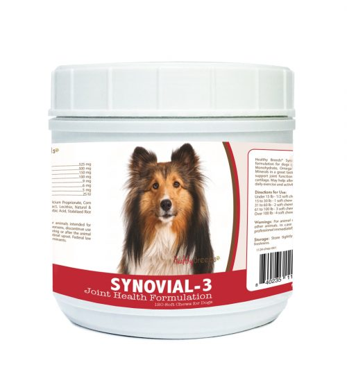 Healthy Breeds 840235114345 Shetland Sheepdog Synovial-3 Joint Health Formulation - 120 Count