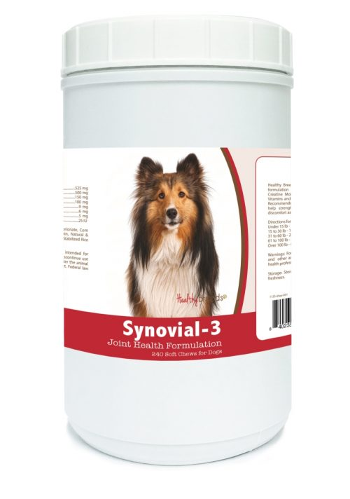 Healthy Breeds 840235114352 Shetland Sheepdog Synovial-3 Joint Health Formulation - 240 Count