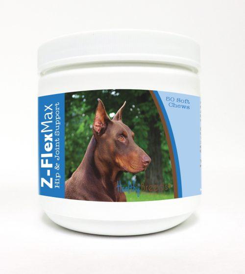Healthy Breeds 840235117292 Doberman Pinscher Z-Flex Max Hip & Joint Soft Chews 50 Count