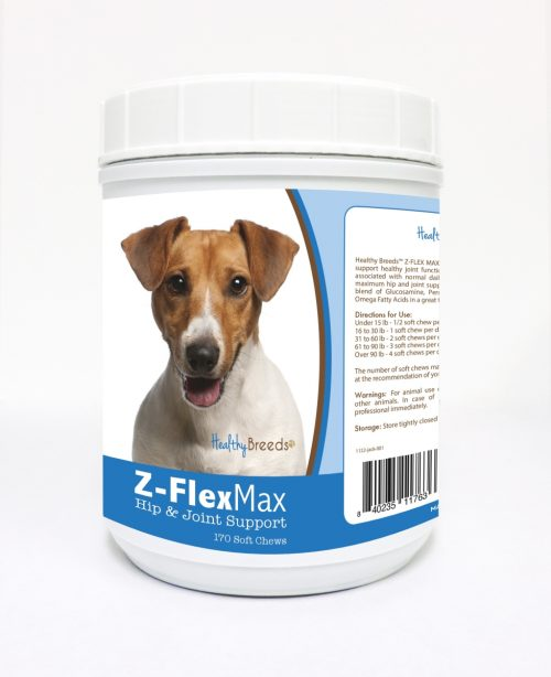 Healthy Breeds 840235117636 Jack Russell Terrier Z-Flex Max Hip & Joint Soft Chews 170 Count
