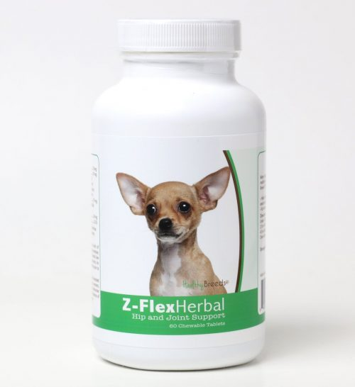 Healthy Breeds 840235119777 Chihuahua Natural Joint Support Chewable Tablets - 60 Count
