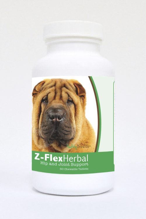 Healthy Breeds 840235120148 Chinese Shar Pei Natural Joint Support Chewable Tablets - 60 Count