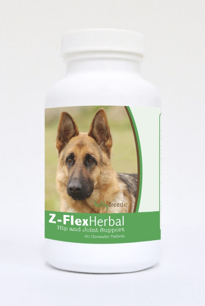 Healthy Breeds 840235121749 German Shepherd Natural Joint Support Chewable Tablets - 60 Count