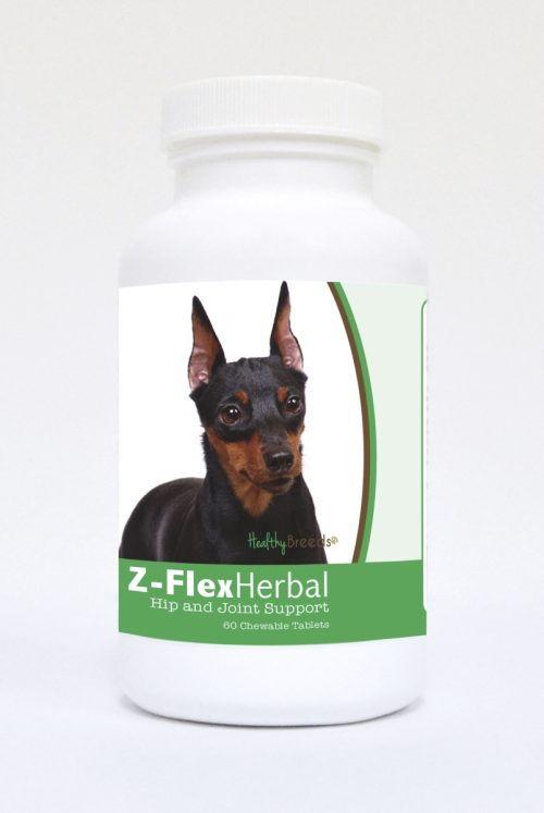 Healthy Breeds 840235123156 Miniature Pinscher Natural Joint Support Chewable Tablets - 60 Count