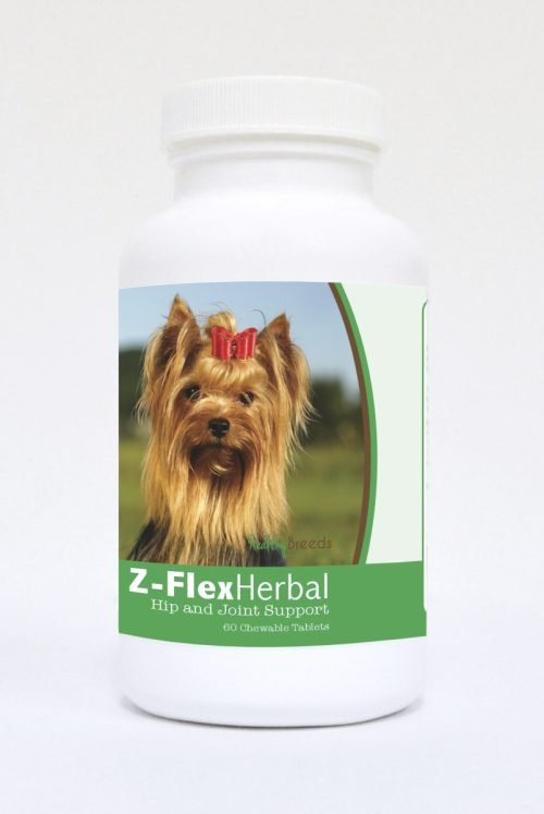 Healthy Breeds 840235126904 Yorkshire Terrier Natural Joint Support Chewable Tablets - 60 Count