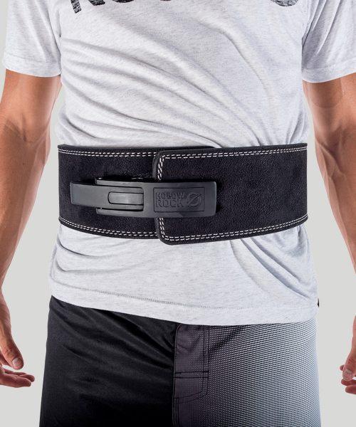 HollowRock Gear ACLB021M 39 in. Platinum 7 mm Weight Lifting Lever Belt Black - Medium