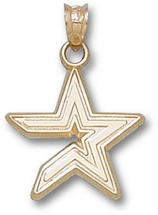 "Houston Astros ""Star"" 5/8"" Pendant - 10KT Gold Jewelry"