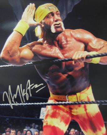 "Hulk Hogan Autographed ""Listen To The Crowd"" 16"" x 20"" Photograph (Unframed)"