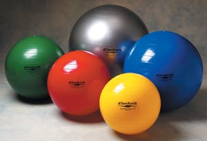Hygenic Theraband HYC 23120 55 cm Standard Exercise Ball with Polybag Red - 10 Each Per Case