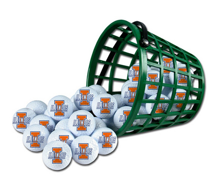 Illinois Fighting Illini Golf Ball Bucket (36 Balls)