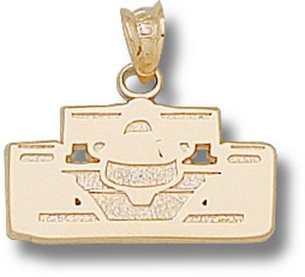 """Indianapolis Motor Speedway """"Open Wheel Car Front View"""" Pendant - 10KT Gold Jewelry"""