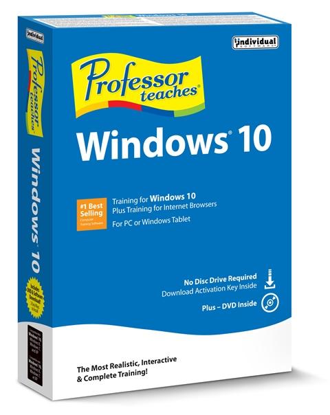 Individual Software EK5-W10 Professor Teaches Windows 10 - 5 Keys