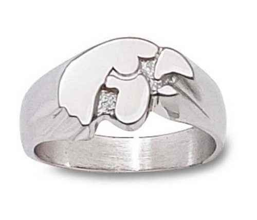 "Iowa Hawkeyes ""Tiger Hawk"" Men's Ring Size 11 - Sterling Silver Jewelry"