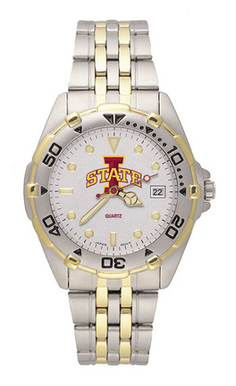 """Iowa State Cyclones """"Cyclone"""" All Star Watch with Stainless Steel Band - Men's from Logo Art"""