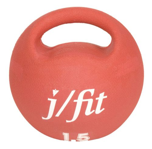 J Fit 20-0015 Premium Handle Med Ball 3.3lbs - Red