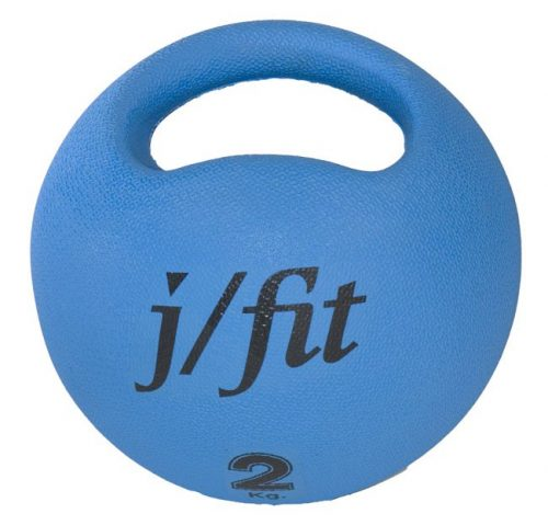 J Fit 20-0020 Premium Handle Med Ball 4.4lbs - Blue