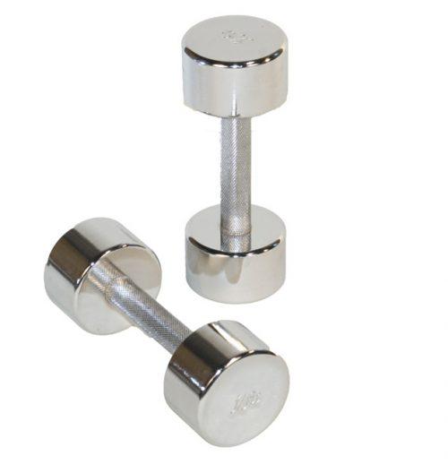 J Fit 20-5510-2 Chrome Dumbbell 10lb - Pair - Chrome