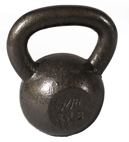 J Fit 20-6150 Cast Iron Kettlebell - 50 lbs