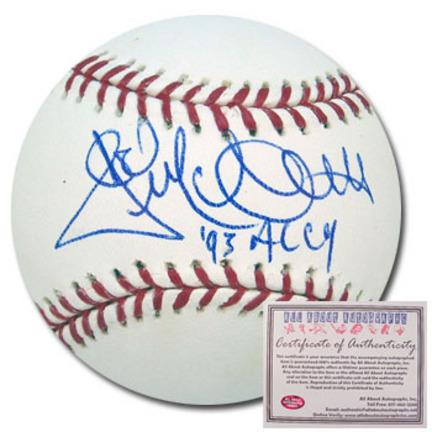 "Jack McDowell Autographed Rawlings MLB Baseball with ""93 AL CY"" Inscription"